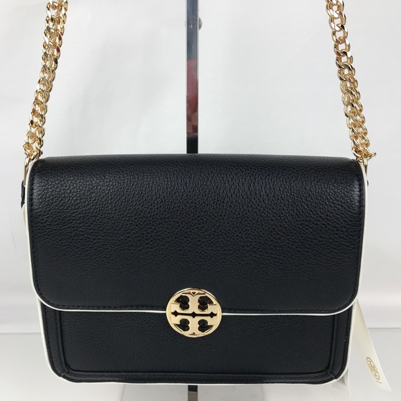 655c834b421 Tory Burch Duet Chain Convertible Shoulder Bag